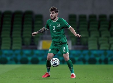 Ryan Manning made his debut for Ireland on Wednesday night.