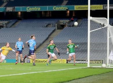 Sean Bugler scores Dublin's second goal on Saturday night.