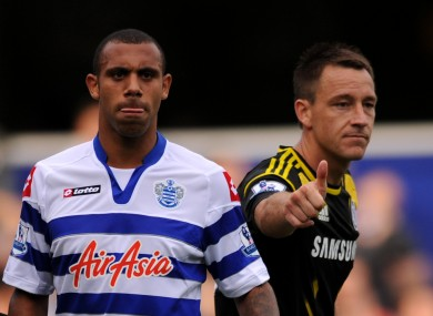 Ferdinand and Terry in 2011, during QPR's game with Chelsea.