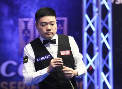 Ding Junhui of China (file pic).