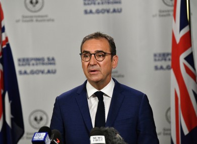 South Australia Premier Steven Marshall