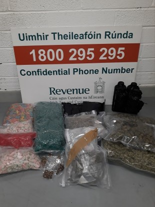 Items seized at Dublin Mail Centre