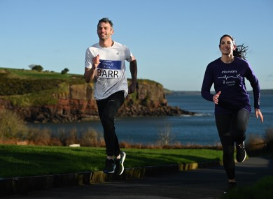 Jessie and Thomas Barr at the launch of the Irish Life Health 'Runuary' programme in Dunmore East, Waterford.