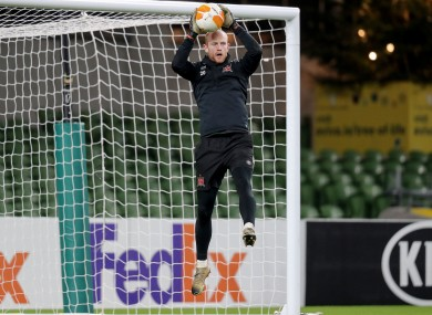 Aaron McCarey during Dundalk squad training ahead of the FAI Cup final.