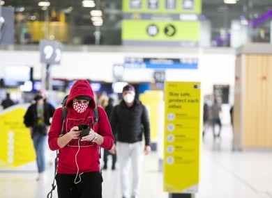 File photo of passengers at Dublin Airport