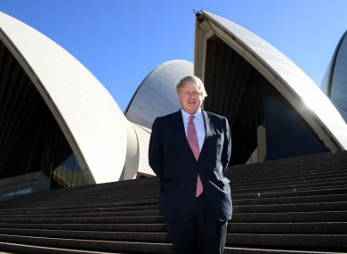 Johnson at the Sydney Opera House in 2017.