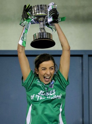 Fermanagh's Courtney Murphy lifts the West County Hotel Cup.