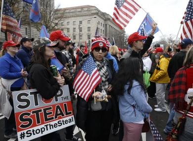Pro-Trump protesters in Washington DC yesterday.