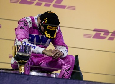 Perez reflects on the podium after his maiden win.
