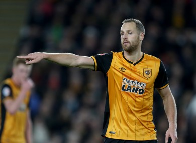 Playing for Hull against Burnley on St Stephen's Day in 2015.