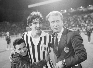 Paolo Rossi and Giovanni Trapattoni.