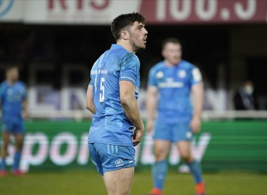Jimmy O'Brien pictured during Leinster's recent Heineken Champions Cup victory against Montpellier.