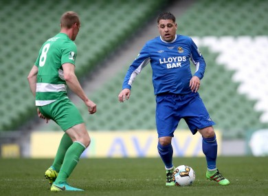 John Lester pictured playing for Sheriff during the FAI Junior Cup Final in 2017.
