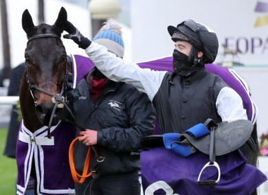 Flooring Porter after the victory at the Leopardstown Christmas Festival.