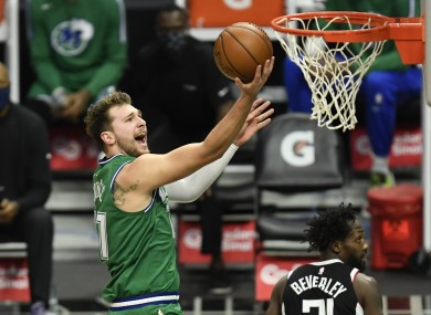 Luka Doncic scored 18 of his 24 points in the first half