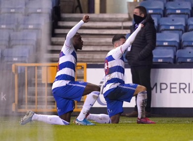 Queens Park Rangers' Ilias Chair (right) celebrates scoring his side's first goal of the game with team-mate Bright Osayi-Samuel by taking a knee.