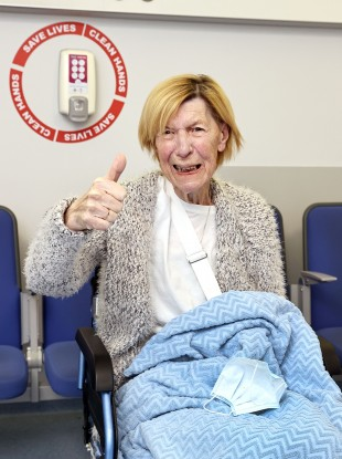 Annie Lynch (79) who was the first person in the Republic of Ireland to receive the Covid-19 vaccine.