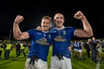Padraig Faulkner and Killian Clarke celebrate Cavan's Ulster final win.