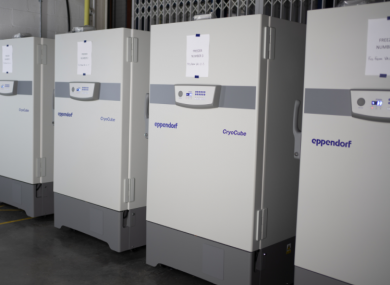 New ultra low temperature freezers at the HSE National Cold Chain Centre.