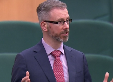 Minister Roderic O'Gorman speaking in the Dáil in December.