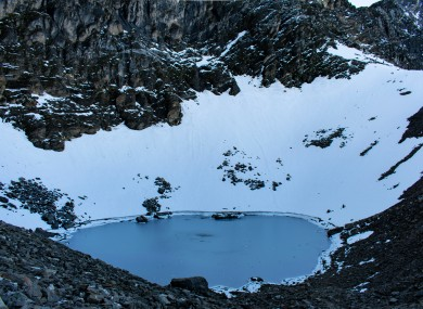 The lake, Roopkund.
