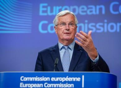 File photo: Michel Barnier