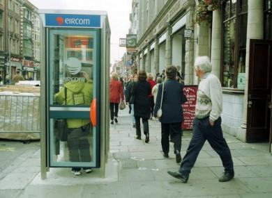 File image of an Eircom phone box in 1999.