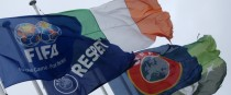 Flags fly outside of FAI HQ in Abbottstown.