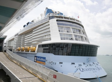 The Quantum of the Seas cruise ship returned to port after a passenger tested positive for Covid-19.