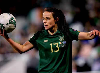 File photo of Aine O'Gorman in action for Ireland last year.
