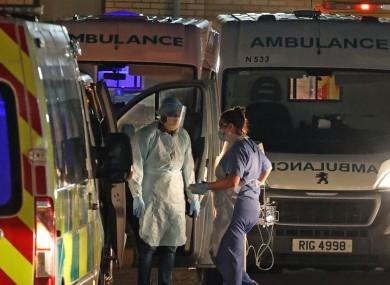 Ambulances outside Antrim Area Hospital