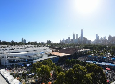 The Australian Open is due to start on 8 February - File photo of Rod Laver Arena.
