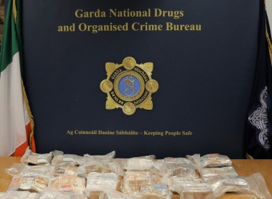 Garda seized the €1m when they stopped a car on the M7 in Kildare.
