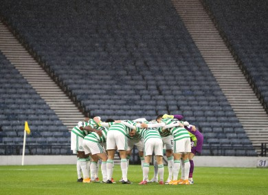 File photo of the Celtic team.