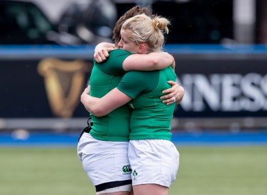 Ireland Women internationals Ciara Griffin and Claire Molloy.