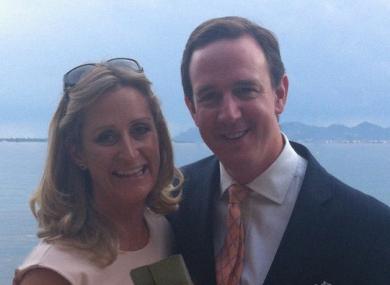 Richard O'Halloran pictured with his wife Tara.