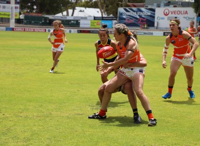 Bríd Stack in action for the Greater Western Sydney Giants.