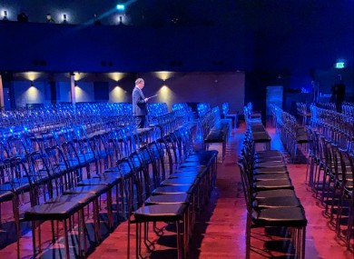 This year's Holocaust memorial event was broadcast from the Mansion House in Dublin without a physical audience