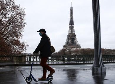 File photo. A quiet Parisian street this week.