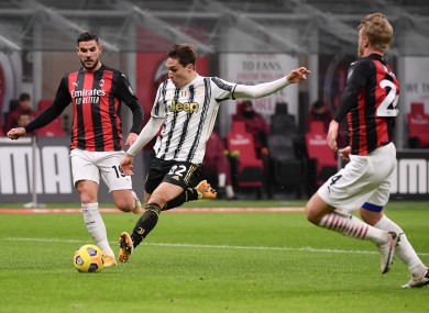 Federcio Chiesa opens the scoring for Juventus.