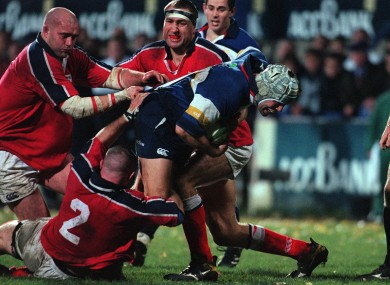 Liam Toland carries against Munster in the Interprovincial Championships in 2000.