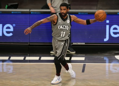 Brooklyn Nets point guard Kyrie Irving.