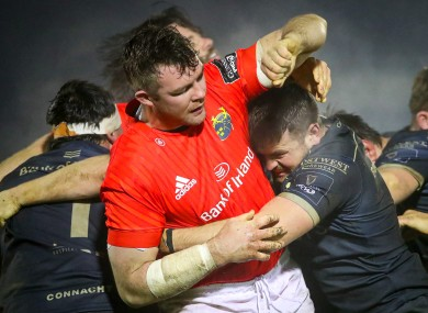 Munster captain Peter O'Mahony in a maul.