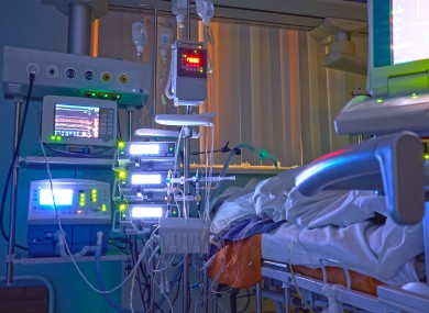 File photo of an ICU bed.