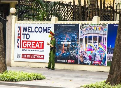 The British embassy in Hanoi, Vietnam