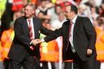 Alex Ferguson and Rafa Benitez, in 2009.