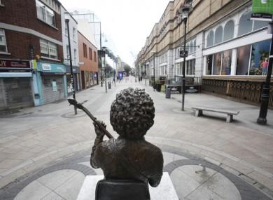 The Luke Kelly statue on King Street