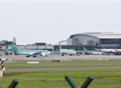 File image of planes outside Dublin Airport.