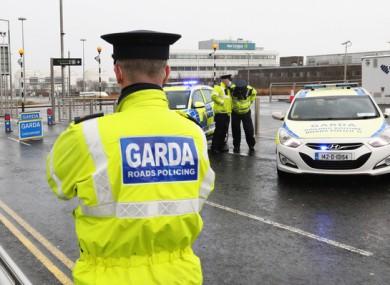 Garda checkpoint at Dublin Airport