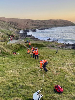 The Old Head/Seven Heads Coastguard Unit as they carry out the rescue